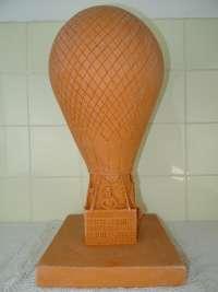 Terracotta beeld L'Archimède door Constant Grooten