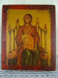 Antiek icoon Heilige Maria en Jezus