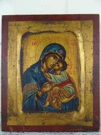 Antiek icoon Heilige Maria met Jezus
