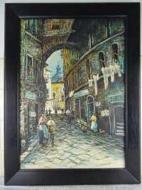 Antiek schilderij met Italiaans tafereel