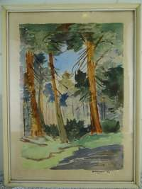 Antiek aquarel Fonteyn 1957